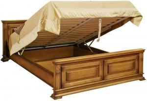 """Кровать двуспальная с подъёмным механизмом """"Верди Люкс"""""""