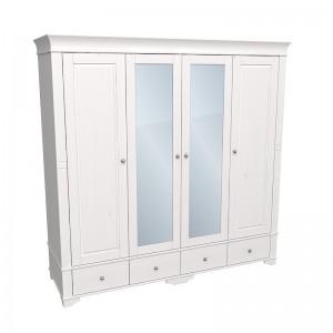"""Шкаф для одежды четырёхдверный с зеркалами """"Бейли"""""""
