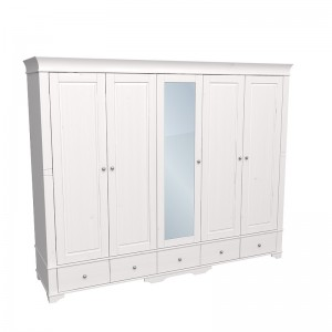 """Шкаф для одежды пятидверный с одним зеркалом """"Бейли"""""""