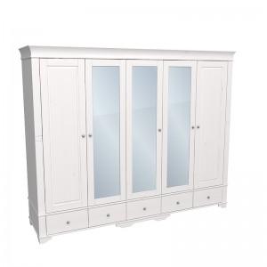 """Шкаф для одежды пятидверный с тремя зеркалами """"Бейли"""""""