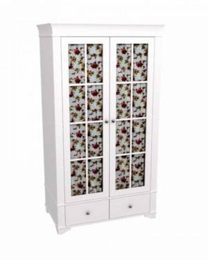 """Шкаф для одежды двухдверный со стеклом """"Бейли"""""""