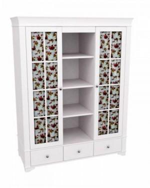 """Шкаф для одежды со стеклом и полками """"Бейли"""""""
