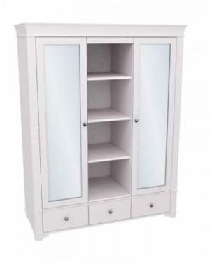 """Шкаф для одежды с полками и зеркалами """"Бейли"""""""