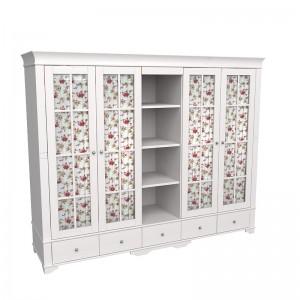 """Шкаф для одежды пятидверный со стеклом и полками """"Бейли"""""""